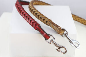 Workshop Sauri - Red and beige leather dog leash