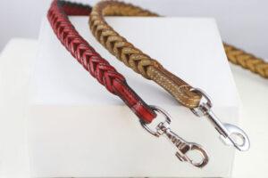 Workshop Sauri - Red and beige leather dog leash