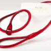 choke leather leash red