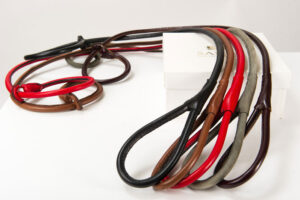 choke leather leashes