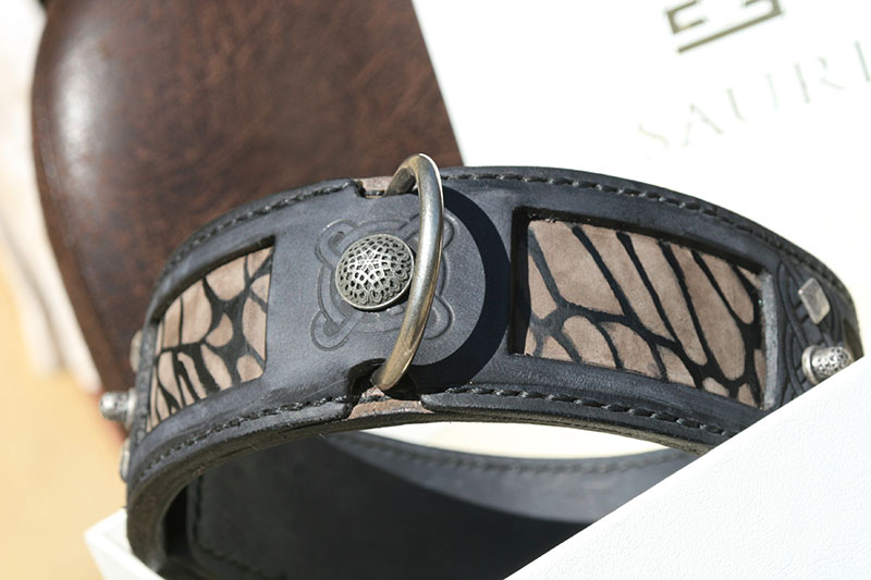 Ishtar - unique leather dog collar