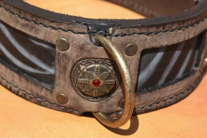 Hand stitched quality leather dog collar