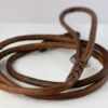 Round leather lead