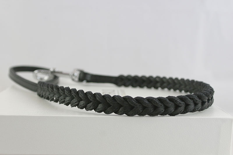 Leather-leash-braided-black-LL12