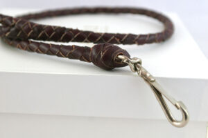 Leather-leash-plaited-brown-LL13