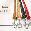 Modern leather leashes