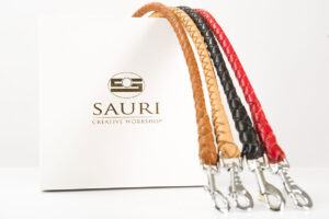 Modern leather leashes colors