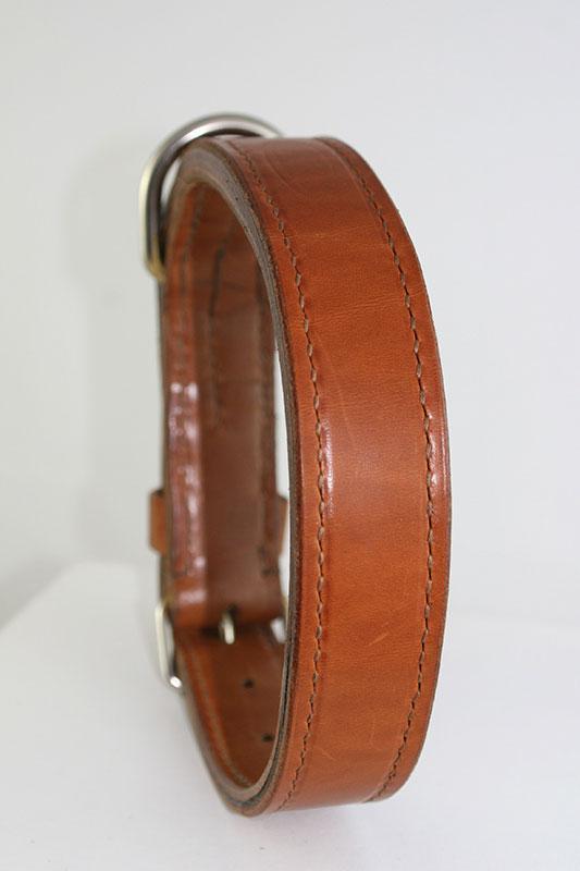 Sauri - plain leather dog collar