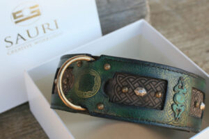 Emerald verdigris brass details