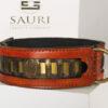 Caracal dog collar with ornamental rivets