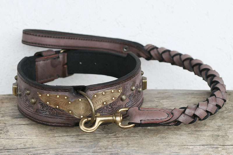 Workshop Sauri personalized dog collar and leash