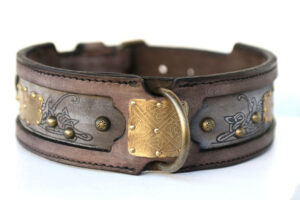 Kairos Dog Collar - Sauri Unique Brass Ornament