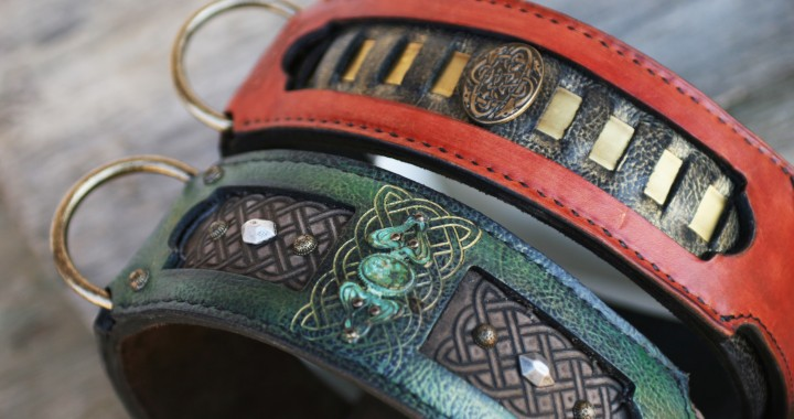 Leather Dog Collars by Workshop Sauri