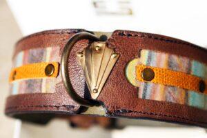 Workshop Sauri - Naga leather dog collar for medium sized dogs