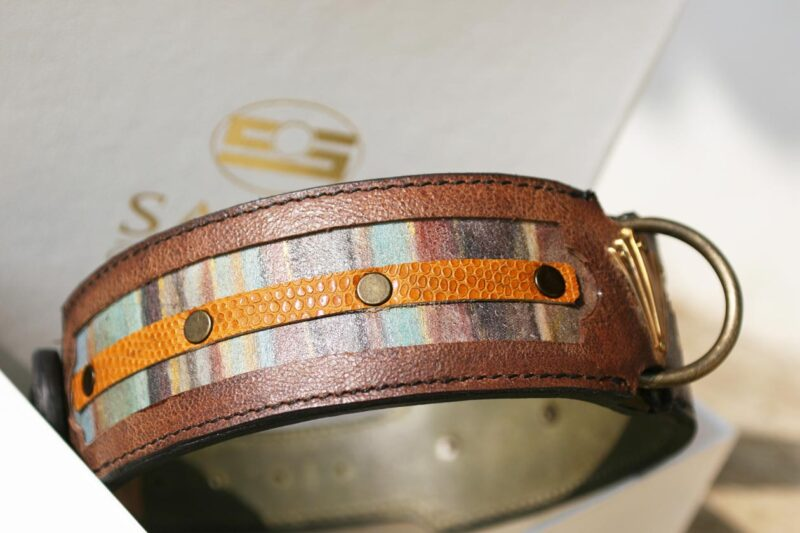Workshop Sauri - Naga hand printed dog collar