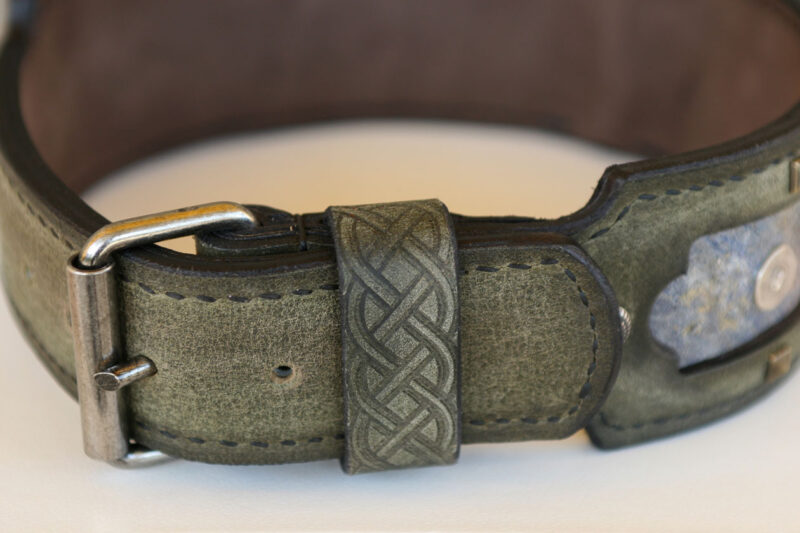 Margey - unique leather dog collar for Great Danes and other large breed dogs hand crafted by Workshop Sauri