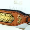 Karakorum unique leather dog collar by Sauri dog collars