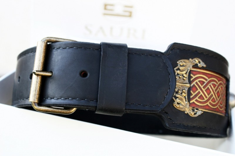 Sauri dog collar - closed buckle detail