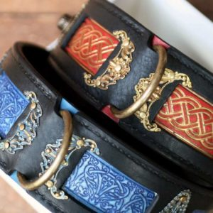 Leather dog collars for large breeds by Workshop Sauri
