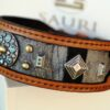 Leather dog collar with ornaments by Sauri