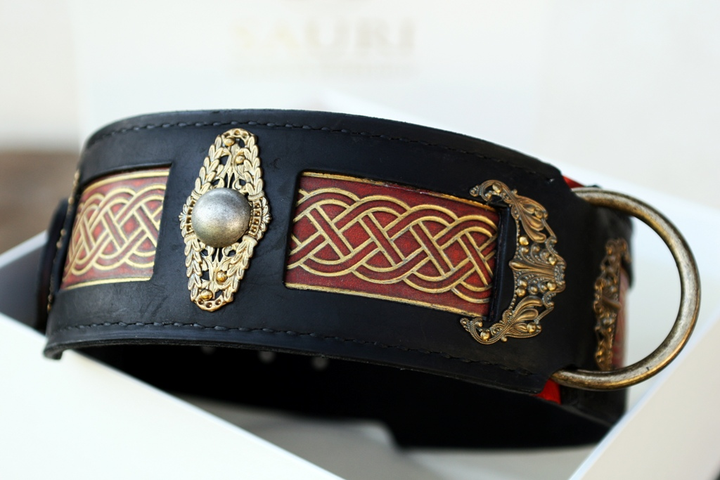 Seraphim Unique Leather Dog Collar For Large Breeds