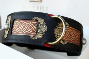 Seraphim - uniquely hand crafted leather dog collar for large breeds