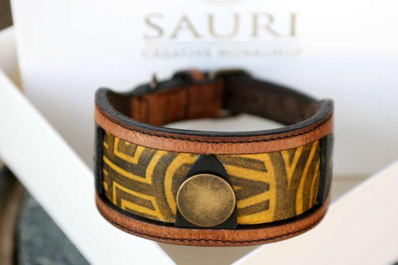 Workshop Sauri - Luangva sighthound dog collar hand print