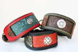 Italian greyhound dog collar by Workshop Sauri