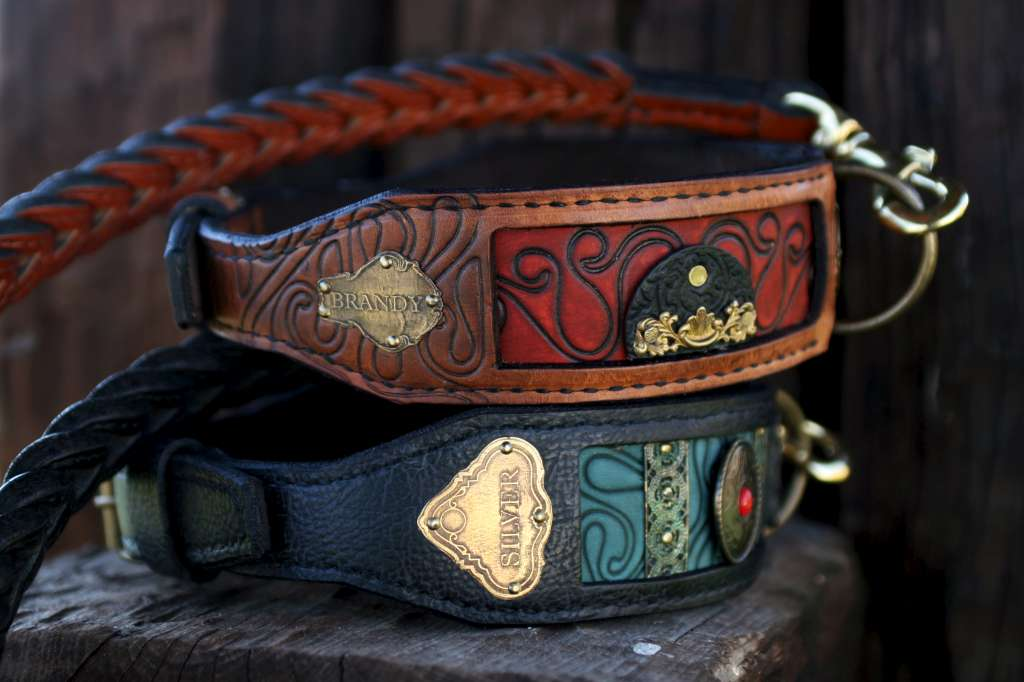 Personalized leather dog collars by Workshop Sauri