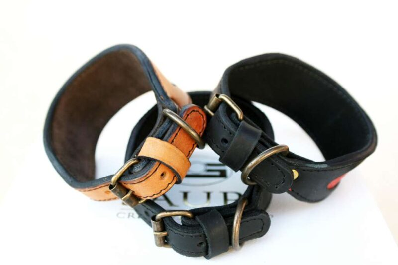 Sauri collars for whippets buckles