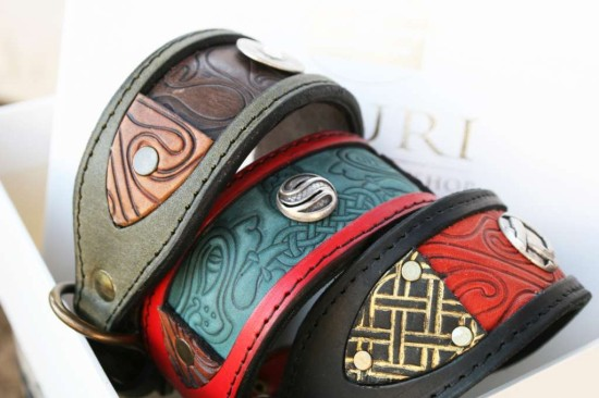 Whippet collars handmade by Workshop Sauri