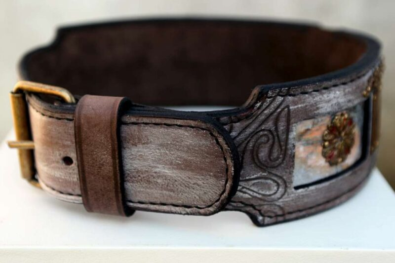 Personalized dog collar buckle detail
