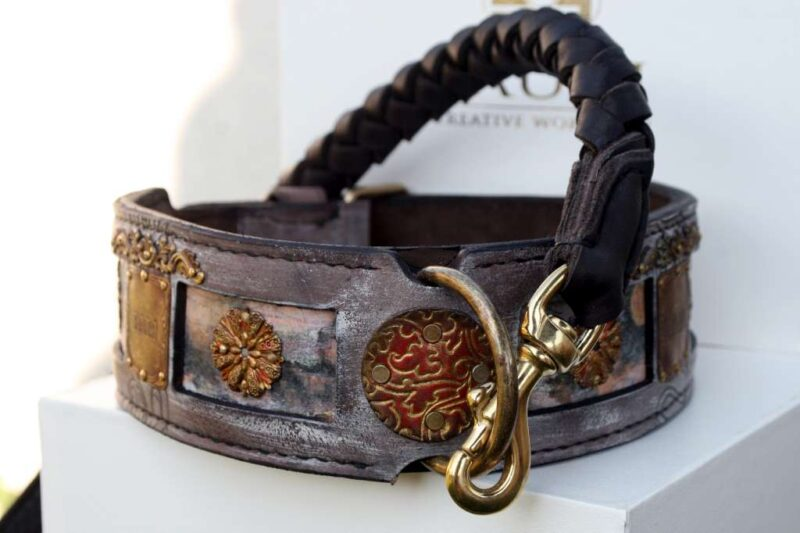 Bali - personalized dog collar and leash by Workshop Sauri