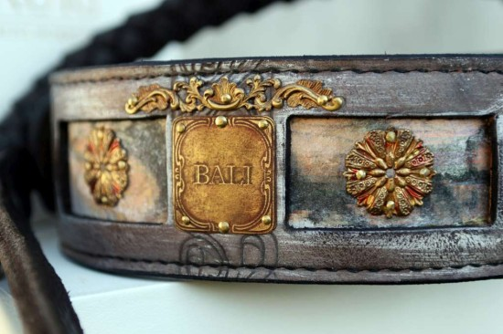 Personalized dog collar Bali by Workshop Sauri
