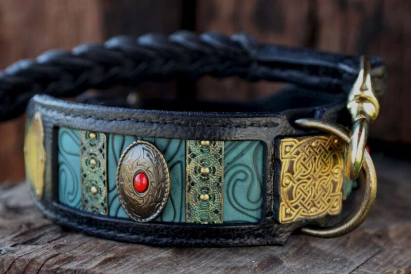 Personalized dog collar Silver by Workshop Sauri