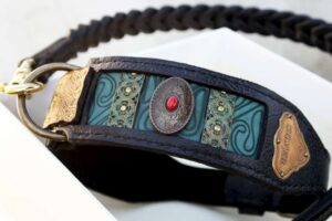 Personalized dog collar by Workshop Sauri