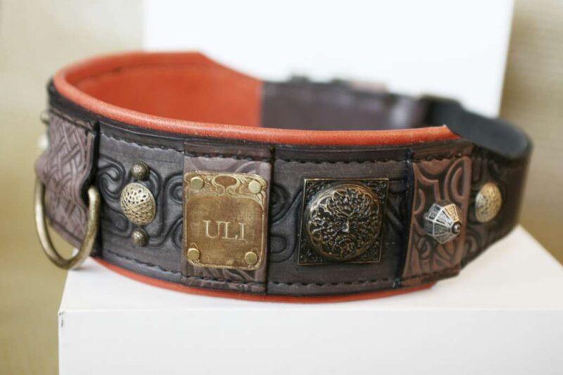 Neapolitan mastiff leather collar by Workshop Sauri