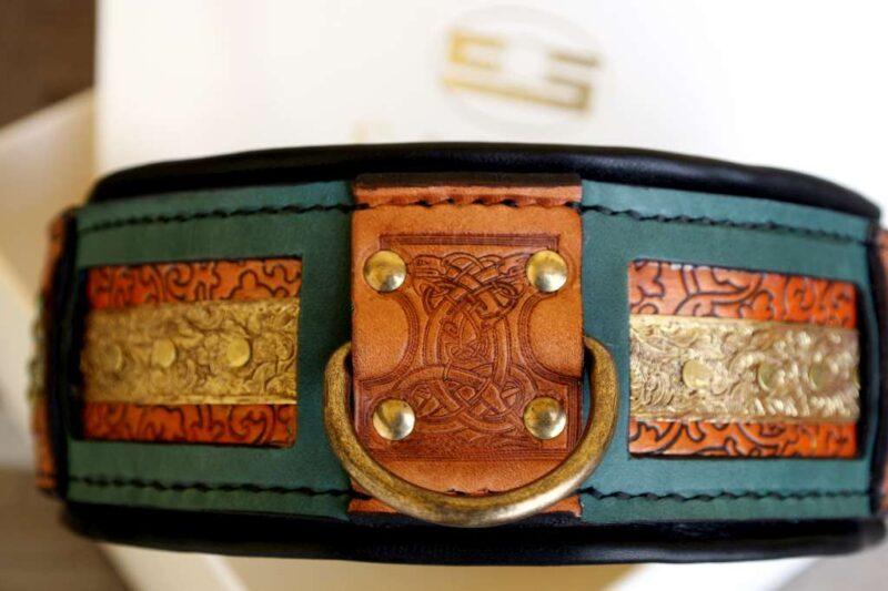 Rajasthan dog collar handmade by Workshop Sauri