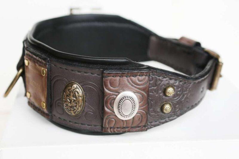 Custom made leather dog collar by Workshop Sauri