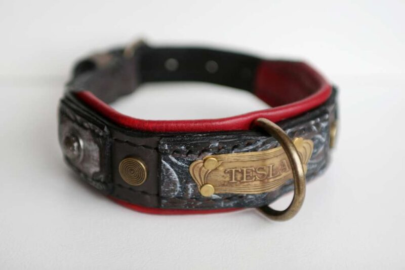 Tesla - all dog sizes unique handmade dog collar by Workshop Sauri