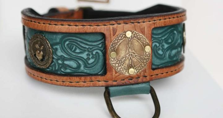 Designer leather dog collar by Workshop Sauri