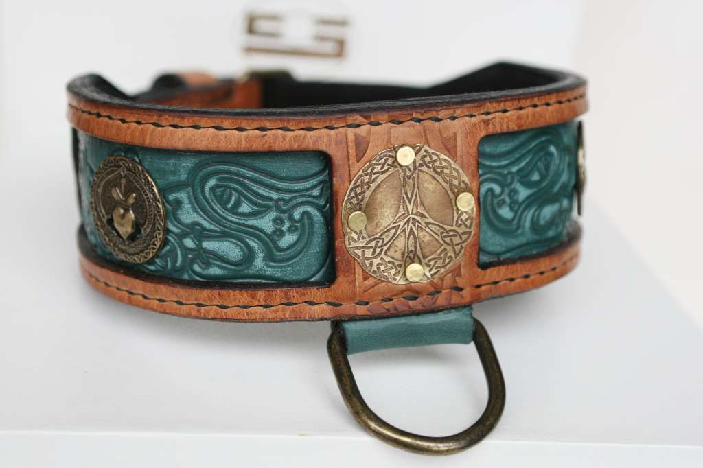 Designer leather dog collar by Workshop Sauri