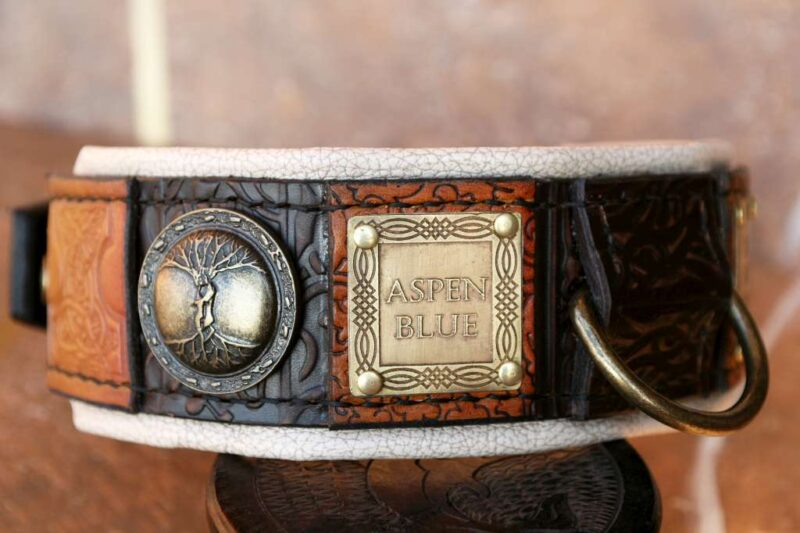 Customized Imperial dog collar by Workshop Sauri