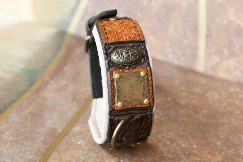 Personalized leather dog collar by Workshop Sauri