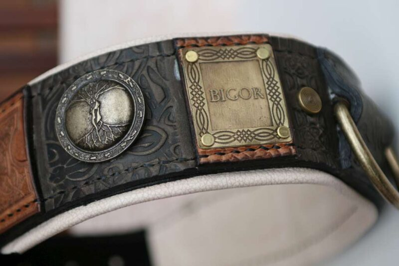 Imperial dog collar with antique nameplates