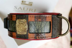 Clouds charm by Workshop Sauri on leather dog collar
