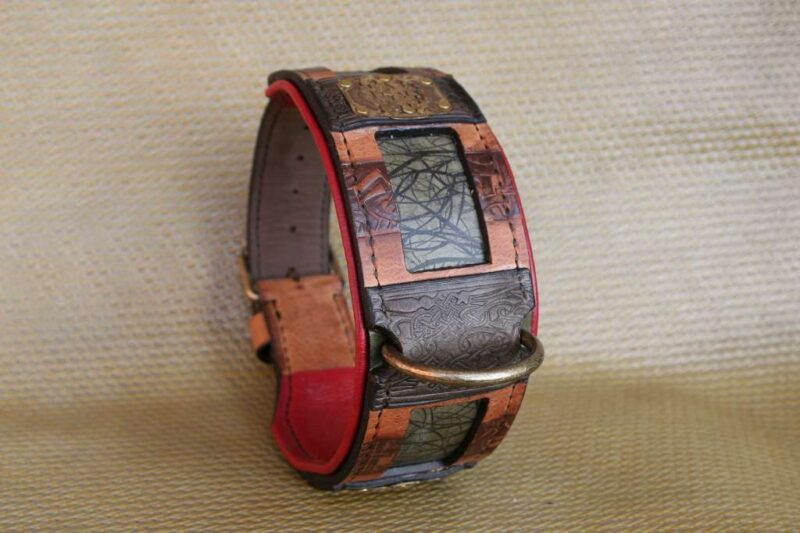 Hand stitched dog collar by Workshop Sauri