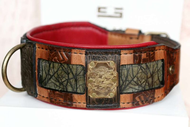 Leather dog collar Yokozuna handmade by Workshop Sauri
