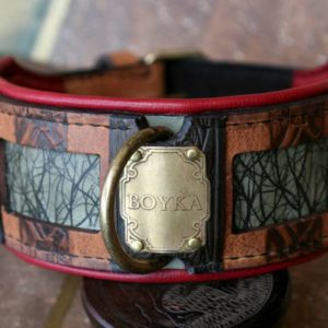 Personalized molosser leather dog collar by Workshop Sauri