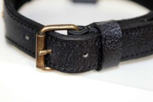 Buckle hand stitched leather